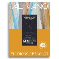 Альбом для акварели FABRIANO Watercolour Studio Hot pressed, 200г/м2, 22.9x30.5см, Сатин, склейка 75 листов