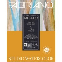 Альбом для акварели FABRIANO Watercolour Studio Hot pressed, 200г/м2, 28x35.6см, Сатин, склейка 75 листов