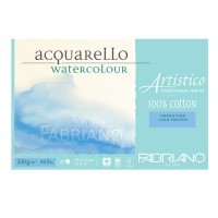 Блок для акварели FABRIANO Artistico Traditional White, 200г/м2, 30.5x45.5см, Фин, склейка 25 листов