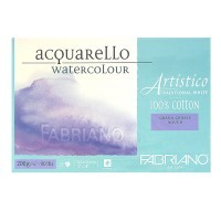 Блок для акварели FABRIANO Artistico Traditional White, 200г/м2, 30.5x45.5см, Торшон, склейка 25 листов
