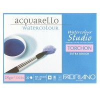 Блок для акварели FABRIANO Watercolour Studio Torchon, 270г/м2, 30.5x45.5см, Торшон, склейка 20 листов