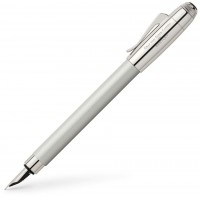 Перьевая ручка Graf von Faber-Castell for Bentley, White Satin, перо F