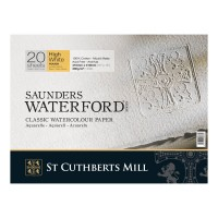 Альбом для акварели `Saunders Waterford Rough H.White` 41х31см 300г/м2, 20л. (блок)