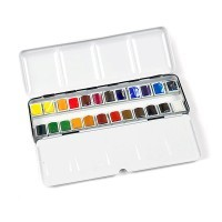 Набор акварели Winsor&Newton PROFESSIONAL Sketchers' Box, 24 цвета (мал. кюветы)
