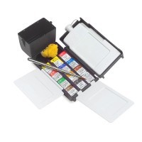 Набор акварели Winsor&Newton PROFESSIONAL Field Box, 12 цветов (мал. кюветы)
