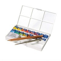 Набор акварели Winsor&Newton COTMAN, Deluxe Sketchers' Pocket Box, 16 цветов