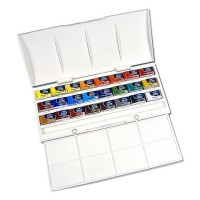 Набор акварели Winsor&Newton COTMAN, The Cotman Studio Set, 24 цвета