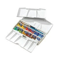 Набор акварели Winsor&Newton COTMAN, Pocket Plus, 12 цветов