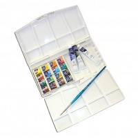 Набор акварели Winsor&Newton COTMAN, Painting Plus, 16 цветов