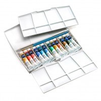 Набор акварели Winsor&Newton COTMAN, Mini Plus, 12 цветов (тубы)
