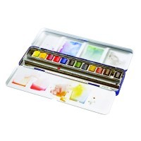 Набор акварели Winsor&Newton COTMAN, Blue Box, 12 цветов