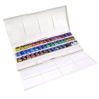 Набор акварели Winsor&Newton COTMAN, Half Pan Studio Set, 45 кювет